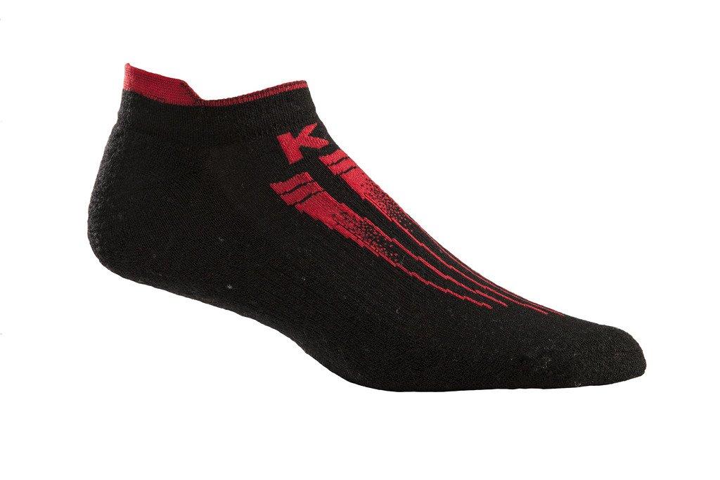 Kentwool mens KW Pro Light Socks, Uomo, Black / Red