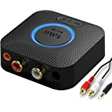 1mii B06LL Receptor Bluetooth 5.0 HiFi, Adaptador Audio Bluetooth Música con Batería de 12 hrs, Salida AUX 3,5mm/RCA, AptX de