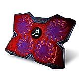 KLIM Wind Laptop-PC Kühler - Leistungsstark wie kein anderer - Schneller Kühlvorgang - 4 Lüfter Belüfteter Notebookständer Gamer Gaming Stützhalterung