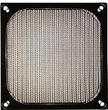 2x Lüftergitter - Aluminium Filter - 120x120mm - schwarz