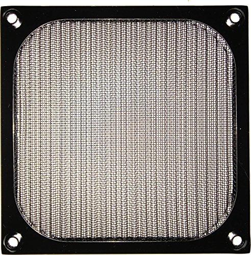 120mm Aluminium Lüfter Filter (2x Lüftergitter - Aluminium Filter - 120x120mm - schwarz)