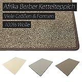 Afrika grau HEVO® Berber Kettelteppiche Teppiche | Kinderteppiche | Spielteppiche 200 cm Ø Rund