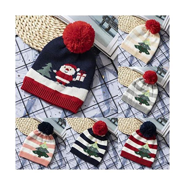 IJKLMNOP Sombreros navideños, niños pequeños y medianos, Sombreros de Punto, Sombreros a Rayas 2