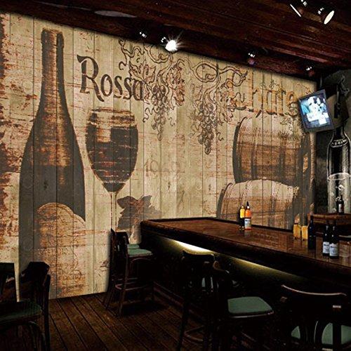 Tantoto 3D WallStickers&Murals Wallpaper 3D Wood-Grain Holz Große Wandmalereien Nostalgische...