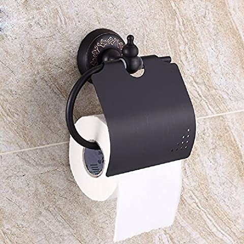 WAWZJ Toilettenpapier Rack, Bad, Vintage - Schwarze Kupfer Papier Handtuchhalter