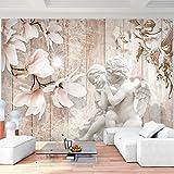 Fototapete Engel Blumen 352 x 250 cm Vlies Wand Tapete Wohnzimmer Schlafzimmer Büro Flur Dekoration Wandbilder XXL Moderne Wanddeko - 100% MADE IN GERMANY - Runa Tapeten 9230011a