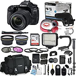 Canon Eos 80d DSLR Camera Bundle with Canon Ef-S 18-135mm F/3.5-5.6 is USM Lens + Professional Video