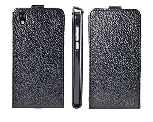caseroxx Handyhülle mit Flip-Cover für Medion Life X5004 MD 99238, Schutzhülle für das Smartphone Flipcase (Handytasche klappbar in schwarz)