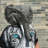 Elefant elephant Kopf Maske mask aus sehr hochwertigen Latex Material mit Öffnungen an Augen Halloween Karneval Fasching Kostüm Verkleidung für Erwachsene Männer und Frauen Damen Herren gruselig Grusel Zombie Monster Dämon Horror Party -