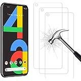 AHABIPERS [3-Pièces] Protection écran pour Google Pixel 4A Verre trempé, HD Full Coverage Premium Film, 9H Dureté, sans…