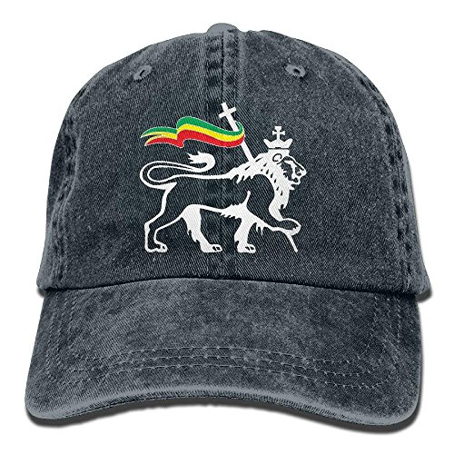 fboylovefor Rasta Lion of Judah Vintage Washed Dyed Cotton Twill Low Profile Adjustable Baseball Cap Washed Cotton Twill Cap
