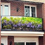 Gärtner Pötschke Balkon-Sichtschutz, Blue Rain, 250 x 80 cm