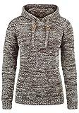 DESIRES Philla Damen Strickpullover Grobstrick Pullover Mit Kapuze Aus 100% Baumwolle, Größe:M, Farbe:Coffee Bean (5973)