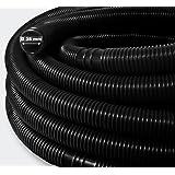 Wiltec 15 m - 38 mm - Solar slang zwart met mof voor zwembad 190 g/m - Made in Europe