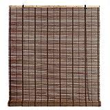 STI Tapparella avvolgibile in bambù MOD.Azalea Wenge 100x160cm Tenda a Rullo Bamboo Arredamento Casa Stile Protezione Luce