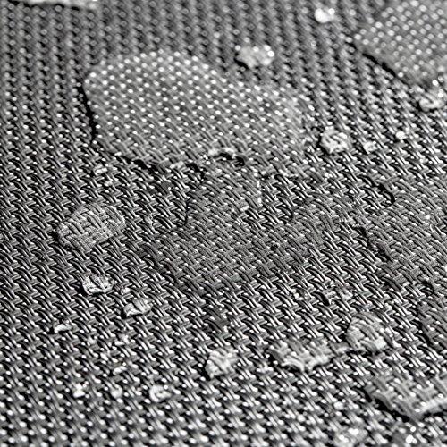 Ultranatura Korfu-Serie-Plus, Aluminium Gartenbank mit Armlehne, grau - 7