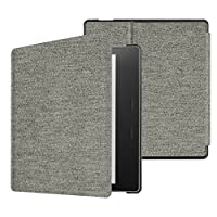 Fintie Slimshell Case for All-new Kindle Oasis (10th Generation, 2019 Release & 9th Generation, 2017 Release) - Premium PU Leather Lightweight Protective Cover with Auto Wake/Sleep - Denim Gray