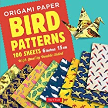 "Origami Paper - Bird Patterns- 6"" (15 CM) - 100 Sheets: Tuttle Origami Paper: High-Quality Origami Sheets Printed with 8 Different Designs: Instructio"