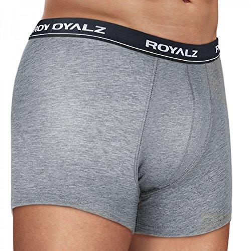 ROYALZ Unterhosen Herren Boxershorts 10er Set klassisch für Sport und Freizeit, 10er Pack (95% Baumwolle / 5% Elasthan) Set 027 ( 10er Pack - Mehrfarbig)
