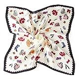 Neuleben Nickituch aus Seide Tuch Bandana Halstücher für Damen Punkt 12 Farbe (Muster-C)