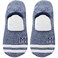 Preisvergleich für Maivasyy 3 Paar Socken Boot Socks Frauen Unsichtbar Silikon Rutschhemmend Kurze Damen Frühling Sommer Socken, Dunkelblau
