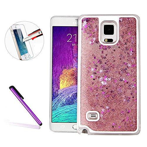 note-4-coque-galaxy-note-4-slim-coque-newstars-papillon-bain-liquide-quicksand-flottant-design-creat