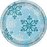 Creative convertir 8Fils Robuste Style Assiettes en Papier, 22,2cm, Flocon de Neige tourbillons