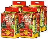 Floragard Aktiv-Tomaten- und Gemüseerde 4x20 L • hochwertige Spezialerde • mit 6-Monate-Langzeitdünger • für Tomaten, Chili, Zucchini, Gurken und anderes Gemüse • 80 L