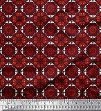 Soimoi Orange Viskose Chiffon Stoff Geometrisch & Paisley