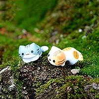 DANMEI Mini Gato Micro Paisaje Jardín Plantas suculentas DIY Decoración (6 Unidades por Paquete)