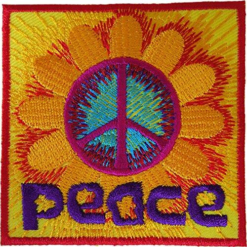 Parche para planchar o coser, diseño de flores y hippie