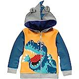 LitBud niños pequeños Sudaderas con Capucha Chaqueta de Dibujos Animados Dinosaurio Cremallera Packaway otoño Abrigo para niñ