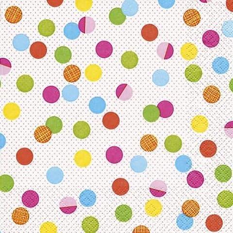 Diseño servilleta puntos multicolor