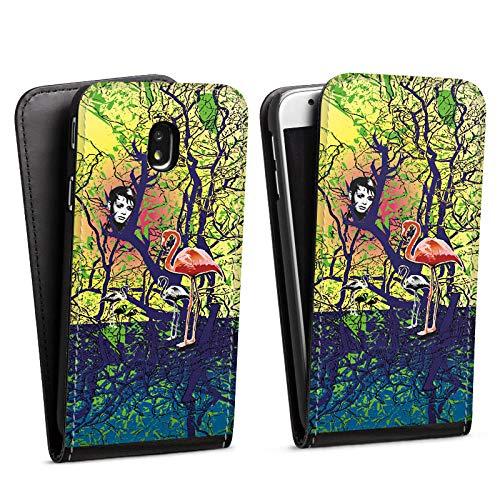 DeinDesign Flip Case kompatibel mit Samsung Galaxy J3 Duos 2017 Tasche Hülle Flamingo Forest Wald