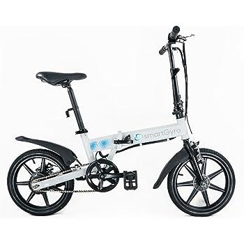 Smartgyro Ebike White - Bicicleta Eléctrica Plegable con asistente al pedaleo, ruedas de 16