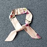 YRXDD Sciarpa delle primavere e della Sciarpa delle Signore Strisce Strette Selvagge Sottili Moda Piccola Sciarpa (5 * 90cm), Fiori di Fondazione