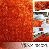 floor factory tapis moderne seasons orange 160x230 cm tapis moelleux et doux en couleurs actuelles - Tapis Orange