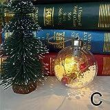 Weihnachtskugeln Weihnachtsbaumkugeln Baumschmuck Transparent mit LED Licht Kreativ Schneeflocke Christbaumschmuck Hohlkugel Anhänger Weihnachten Dekor Ornament für Weihnachten Hochzeit Festival