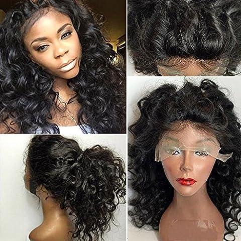 Helene Hair Suelta la onda Bob peluca 100% Brasileño Virgen Cabello Humano Cabello frente del cordón Pelucas con el pelo del bebé para Mujer 180% Densidad ( 24 Pulgada