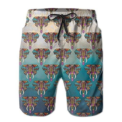 Elephant India Africa Animal Men's Boardshorts Printed Quick Dry Board Shorts Medium