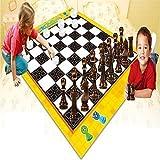 Riese Schach Und Dame Kinder Playmat Spaß Garten Außen- Brettspiel Teppich Teppich Fußboden Spielzeug Matte