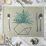ZCHPDD Neue Kleine Frische Pflanze Fleischigen Westlichen Mahlzeit Tischset Pad G 40 * 30 cm * 4 Stücke