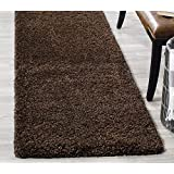 Genius decors California Shagy Collection Runner Rug 2ftx6ft (Brown)