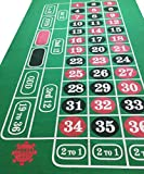POKER CHIP SHOP GIANT GREEN ROULETTE FELT BAIZE CLOTH LAYOUT LARGE PLAYING AREA 180cm by 90cm