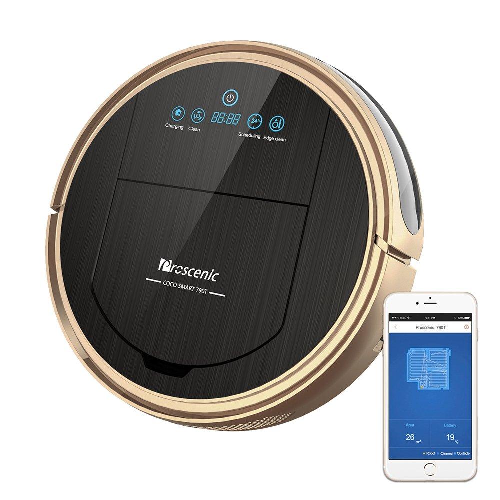 Proscenic 790T WLAN Staubsauger Roboter (2 in 1: Saugroboter & Wischroboter), Selbstaufladung, visuelle Karte, Alexa…