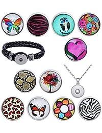 Morella mujer click-buttons Starter-Set 11 click-buttons, pulsera o collar 70 cm