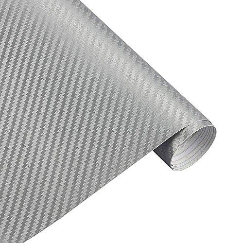 Toomlight 127 centimetri x 15 centimetri 3d 3m auto in fibra di carbonio vinile pellicola di carbonio auto rotolo di carta pellicola auto moto adesivo auto styling sticker