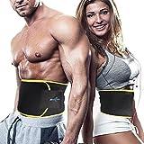 Fitnessgürtel Bauchweggürtel Schwitzgürtel Neopren Bauchgürtel mit Maßband Waist Trimmer Verstellbarer Fitnessgürtel zum Abnehmen und Muskelaufbau für Herren und Damen