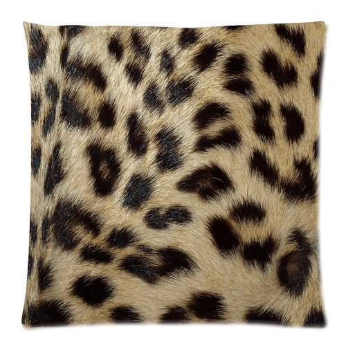 Casebynow Custom Animal Leopard Zebra Print Personalized Cushion Case 18x18 Inches 300 Thread Count Pillow Cover -