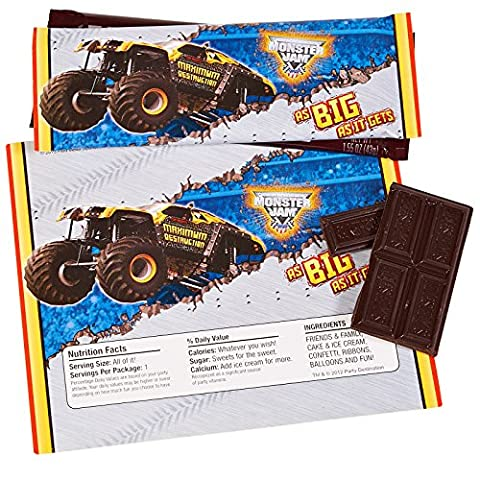 Monster Jam 3D Large Candy Bar Wrappers (8)